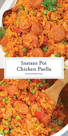 Instant Pot Chicken Paella Looking for quick and easy instant pot chicken recipes? This easy Instant Pot Chicken Paella is for you! Instant Pot Chicken Paella is one of the best instant pot recipes! Instant Pot Pressure Cooker, Pressure Cooker Recipes, Slow Cooker, Healthy Recipes, Healthy Cooking, Cooking Rice, Cooking Pork, Cooking Salmon, Traditional Spanish Dishes
