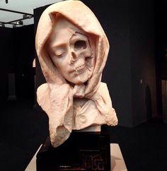 "A 19th century italian marble ""vanitas""."