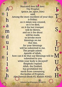 Prophet Adam was created on Friday, for starters. Alhamdulillah, it's Jumuah Ispirational Quotes, True Quotes, Words Quotes, Sayings, Islam Religion, Islam Muslim, Allah Islam, Islam Quran, Alhamdulillah