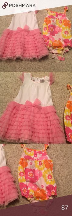 24 months baby girls dress and onesie 24 months baby girls dress and onesie in nice condition bundle # 192 One Pieces