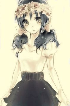 Vintage anime girl with black hair edit. on We Heart It - http://weheartit.com/entry/163320521
