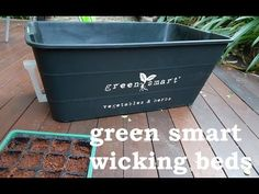 A quick video about GreenSmart pots Hydroponic Growing, Growing Plants, Organic Hydroponics, Wicking Beds, Compost Tea, Pots, Green, Cookware, Jars