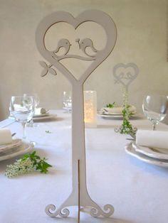 Wedding table decoration Love Birds.