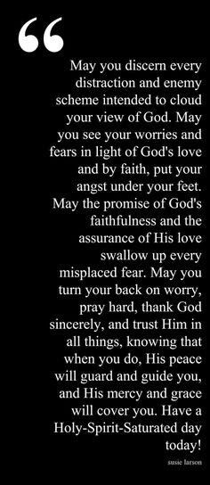 May you discern. ..