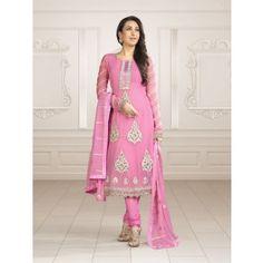 Baby Pink Georgette Anarkali Salwar Kameez