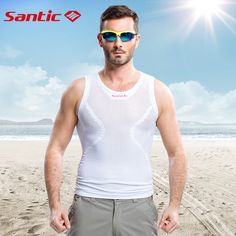 Santic Men Summer Cycling Jersey Swix White Reflective Cycling Vest Cycling Team Clothing Bike Vest Sport Running Vest Clicking on the image will lead you to find similar product on AliExpress website Cycling Vest, Cycling Jerseys, Cycling Outfit, Bike Design, Courses, Sport Outfits, Men Summer, Running, Mens Tops