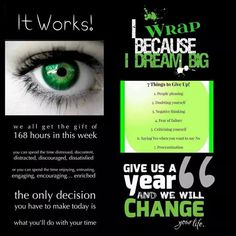 Contact me today and jump on the road to being debt free!  www.wrapsbyjenniferlynn.com