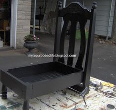 How to make a chair dog bed using old unwanted chairs. Old chairs make great dog beds. Using the back of the chair to be the headboard of the new bed for your dog.