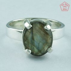 LABRADORITE STONE RING, 925 STERLING SILVER RING, EXCLUSIVE SILVER RING R4966 #SilvexImagesIndiaPvtLtd #Statement #AllOccasion