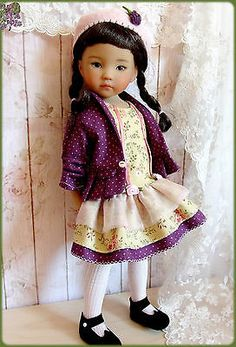 Coquettes-green-Dress-for-EFFNER-Little-Darling-13-Doll. Ends 9/21/14. From France. SOLD for $69.00.