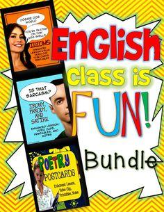 English Class is Fun Bundle! ELA Grades 7-12: Lessons, Videos, Activities ($)
