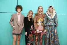 Backstage at Gucci Fall Winter 2018 Fashion Show