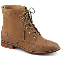 SPERRY TOP-SIDER® SPERRY TOP-SIDER® Leather Brogue Ankle Boots found on Polyvore