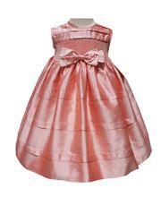 Silk Coral Dress  http://www.carouselwear.com/Silk-coral-baby-girl-dresses.html