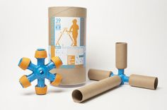 Toobalink: connects paper towel and tp tubes to build stuff!