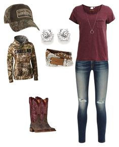 """""""Rope'n Day with my Cowboy ❤️"""" by babyinblue on Polyvore featuring rag & bone, Object Collectors Item, FOSSIL, Tony Lama and Cabela's"""
