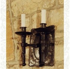 Barrington wall light, hand-forged in iron