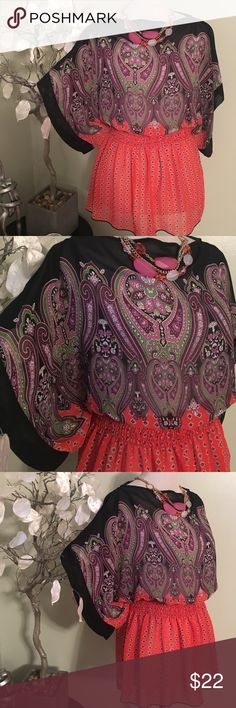 UNIT GORGEOUS TOP Stunning sheer top , 100% polyester, perfect condition UNIT Tops Blouses