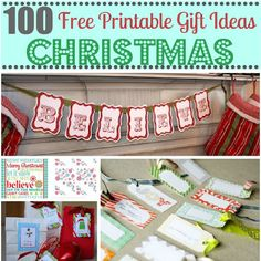 100 Free #Christmas #Printables from Hani at Craftionary, featured @printabledecor1