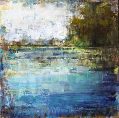 Millpond by Curt Butler, 24x24, oil & encaustic