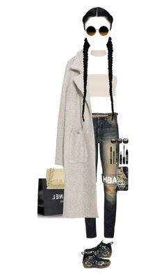 """Visiting Mom and aunt Zox at NYC Flat, Getting ready For The hangout with friends and Boyfriend"" by luxury-kamar ❤ liked on Polyvore featuring Hood by Air, Chanel, Topshop, Zara, NIKE and Lord & Berry"