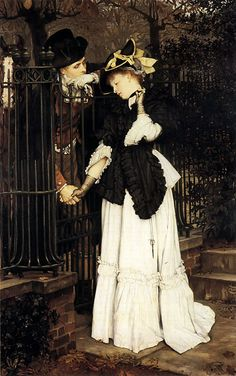 The Farewell by James Jacques Joseph Tissot. #classic #art #painting
