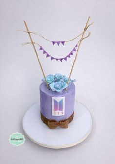 Army Birthday Cakes, Brithday Cake, Army's Birthday, 14th Birthday Party Ideas, Birthday Celebration, Bts Cake, Army Cake, Bts Birthdays, Cake Logo
