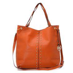 Michael Kors Uptown Astor Large Shoulder Tote Tangerine Leather