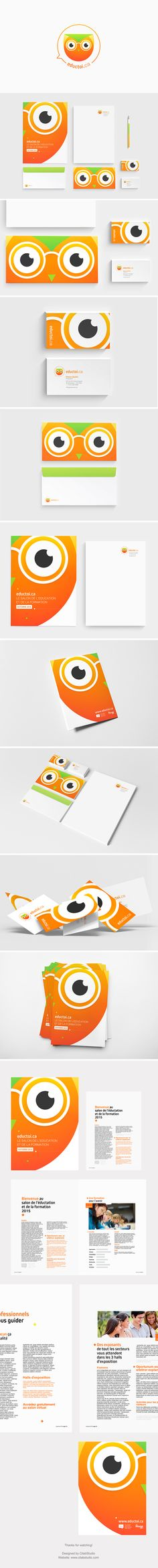 More friendly than first iteration. Branding Ideas, Logo Ideas, Logo Branding, Branding Design, Logo Design, Graphic Design, Owl Logo, Waves Logo, School Logo