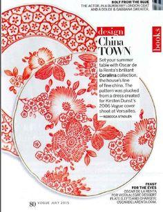 oscar de la renta china - red and white