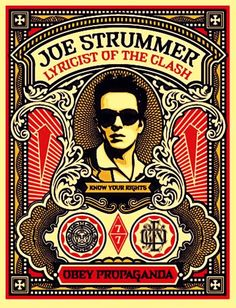 Joe Strummer by Shepard Fairey. #Design #Tipography #Fonts #Calligraphy #Art #Harmony #Letters #Fibonacci #Beauty #Words #Prints #Format #Paper #Ink #Plotter #HD #Graphic #Image #Patterns #Photography #GIF #JPG #Digital
