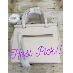 """Make offer!♠️Kate Spade royal place small cherice Host pick girly girl party 6/8!  Retail $498                                                         SIZE: 9.8""""h x 11.7""""w x 4.3""""d drop length: 4.3"""" handheld total strap length: 33.5"""" MATERIAL: smooth cowhide leather capital kate jacquard lining 14-karat light gold plated hardware style # wkru3306 DETAILS: satchel with snap closure and adjustable, removable straps dual interior slide pockets and interior zipper pocket, exterior zipper pocket…"""