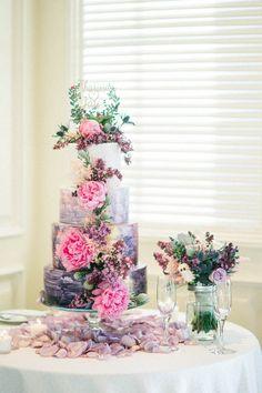 Ultra Violet Wedding Cake - Donna Lams Photo