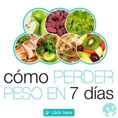 Cómo perder peso en 7 días.  Prueba nuestra dieta de 1200 calorías por día, con un menú de 7 días para bajar de peso en poco tiempo. Por: Dra. Reina Lamardo  #Dieta #Plan #Nutricion #Menu #MenuSemanal #1200Calorias