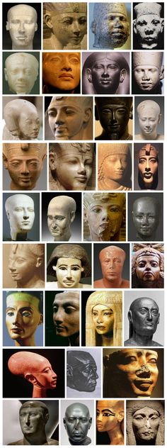 ancient Egyptian faces