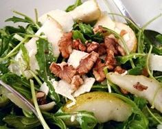 Pear Rocket Walnut And Parmesan Salad Recipe - Healthy