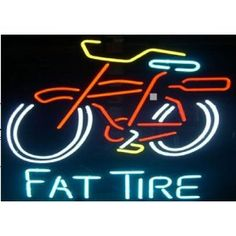 New Fat Tire Real Neon Beer Bar Sign