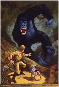 Man's Best Friend - Ploog Pulp Fiction Art, Pulp Art, King Kong, Frankenstein Art, Novel Movies, Horror Artwork, Art Images, Bing Images, Comic Kunst