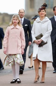 The earl and countess of wessex with their daughter lady louise windsor