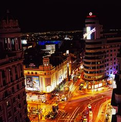 Gran Via, Madrid- along time ago.  I want to revisit this.