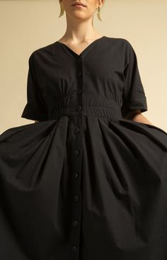 Murmur Dress Coal Black Salsa Dress, Sustainable Fashion, Knit Dress, Fashion Dresses, Model, Cotton, How To Wear, Shopping, Collection