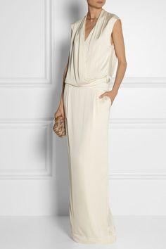 BY MALENE BIRGER Columba wrap-effect stretch-silk maxi dress $675