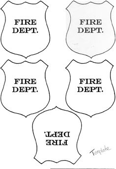 Firefighter Hat Template Printable - Invitation Templates