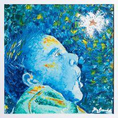 Mathias - Olio su tela con stella intagliata in oro - 50×50 cm - 2013