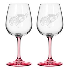 Red Wings Wine Glasses $15.99
