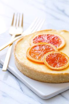 """Perfection in a pie crust: Orange Blossom Almond Cream """"Tart for Two"""" Slow Cooker Desserts, Tart Recipes, Sweet Recipes, Healthy Recipes, Candied Orange Slices, Almond Cream, Thanksgiving Desserts, Cookies Et Biscuits, Sweet Tooth"""
