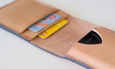 make a leather iPhone flip wallet