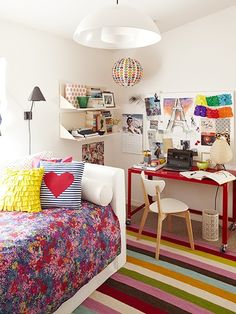 Inspírate: Habitaciones juveniles femeninas: Patrones mixtos