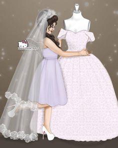 Wedding Dress Shapes, Gorgeous Wedding Dress, Wedding Dresses, Wedding Cards Images, Wedding Dress Illustrations, Bff, Photos Booth, Girl Fashion, Fashion Dresses
