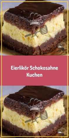 Eggnog chocolate cream cake- Eierlikör Schokosahne Kuchen Ingredients for the dough: 5 eggs 3 tablespoons sugar 2 tablespoons oil 2 … - Mini Desserts, Summer Desserts, Easy Desserts, Easy Cookie Recipes, Cake Recipes, Cake Mix Cookies, Cupcakes, Chocolat Lindt, Chocolate Cream Cake